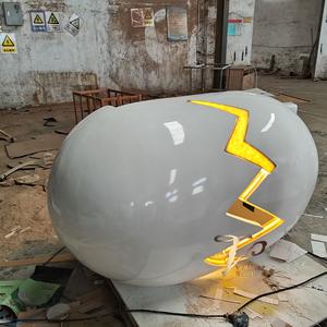 玻璃钢蛋壳发光企业前台