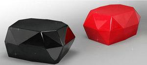 玻璃钢钻石小凳子