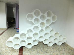 玻璃钢圆筒书架组合