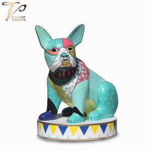 大型雕塑厂家彩绘动物生肖狗雕塑