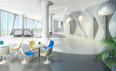 写字楼办公室内办公休息区街道室玻璃钢桌椅组合