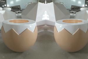 玻璃钢鸡蛋茶几