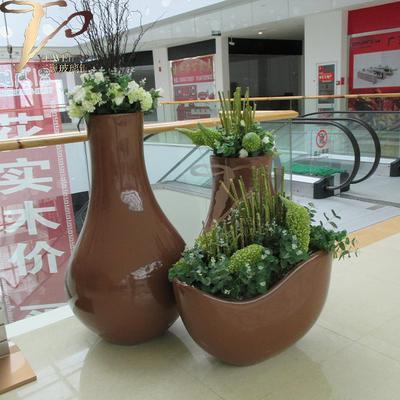 创意玻璃钢异型花盆花器