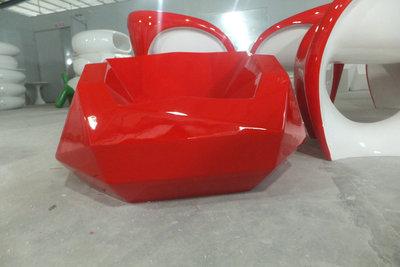 玻璃钢休闲椅菱形单人沙发