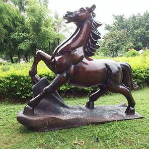 公园十二生肖马不锈钢雕塑