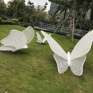 公园大型摆件蝴蝶雕塑