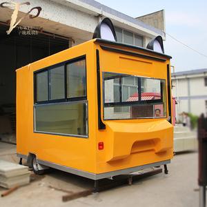 玻璃钢车壳外卖零售移动餐车加工定制