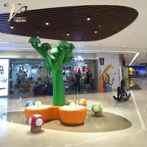 商场玻璃钢休闲大型蘑菇椅