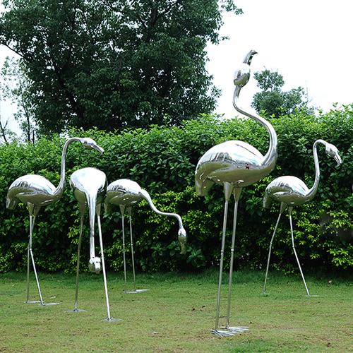 不锈钢火烈鸟雕塑产品定制
