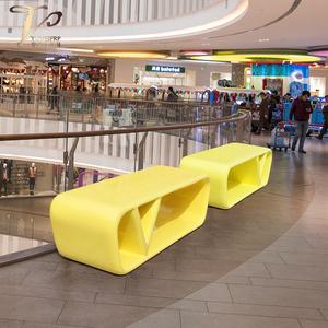 异形烤漆公共休闲座椅