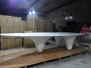 玻璃钢异形三角会议桌