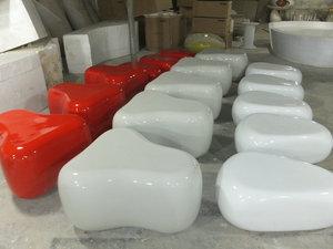 玻璃钢鹅卵石椅