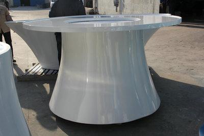 玻璃钢圆形银行展示台