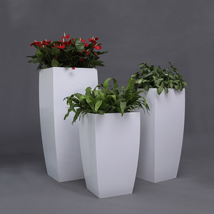 简约不锈钢花盆花器