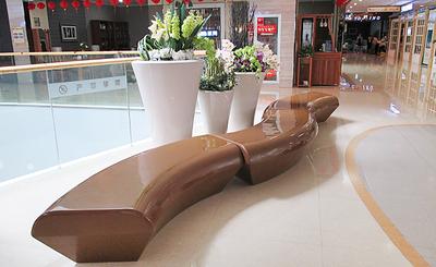 定制玻璃钢长型拼接式座椅
