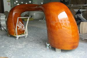玻璃钢异性防木纹前台