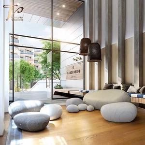 酒店鹅卵石沙发座椅组合定制