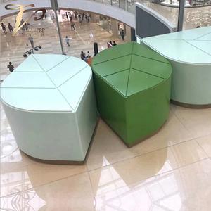 玻璃钢材质叶子造型坐凳小凳子