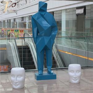 商场美陈菱形人物艺术雕塑