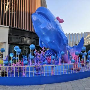 广场美陈景观玻璃钢大雕塑