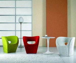 U型椅玻璃钢+扪布
