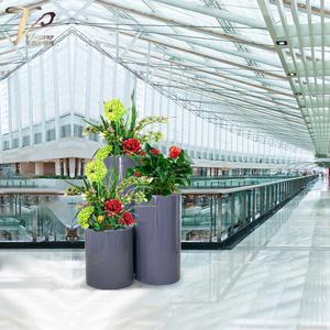 玻璃钢组合落地式样板房商场花盆