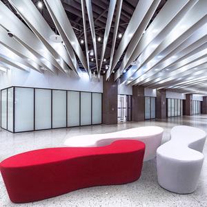 玻璃钢厂家直销定制软包椅子休闲长椅子