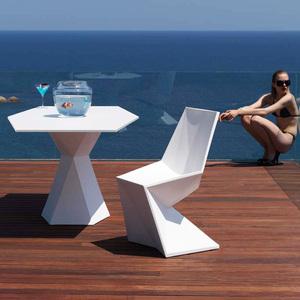 #34玻璃钢休闲家具单人位菱形椅子
