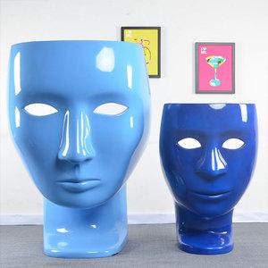 玻璃钢休闲家具北欧人脸面具椅子