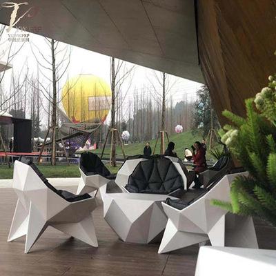 玻璃钢菱形椅子休闲户外单人沙发椅