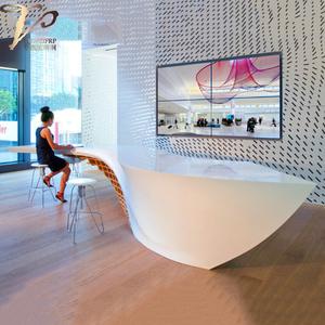 异形办公前台玻璃钢材质大气接待台