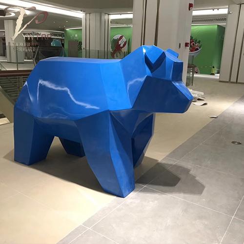室内外摆放卡通动物大型玻璃钢雕塑摆件