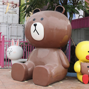 动物乐园摆放玻璃钢雕塑