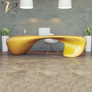 办公异形桌子定制玻璃钢