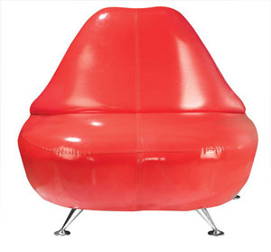 玻璃钢嘴巴椅