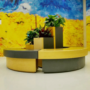 玻璃钢拼接组合花盆座椅