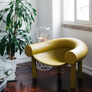 后现代玻璃钢休闲家具酒店接待单人椅子定做