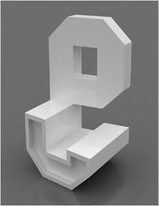 玻璃钢字母椅