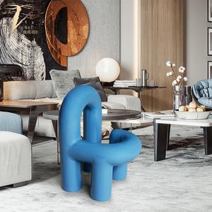 设计师椅子定制样板房家具管道造型趣味椅