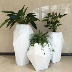 商场组合玻璃钢花箱花盆