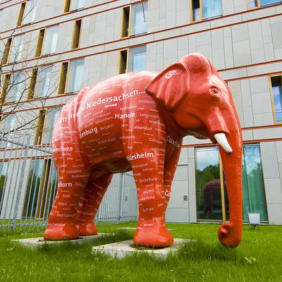 玻璃钢城市大象造型雕塑